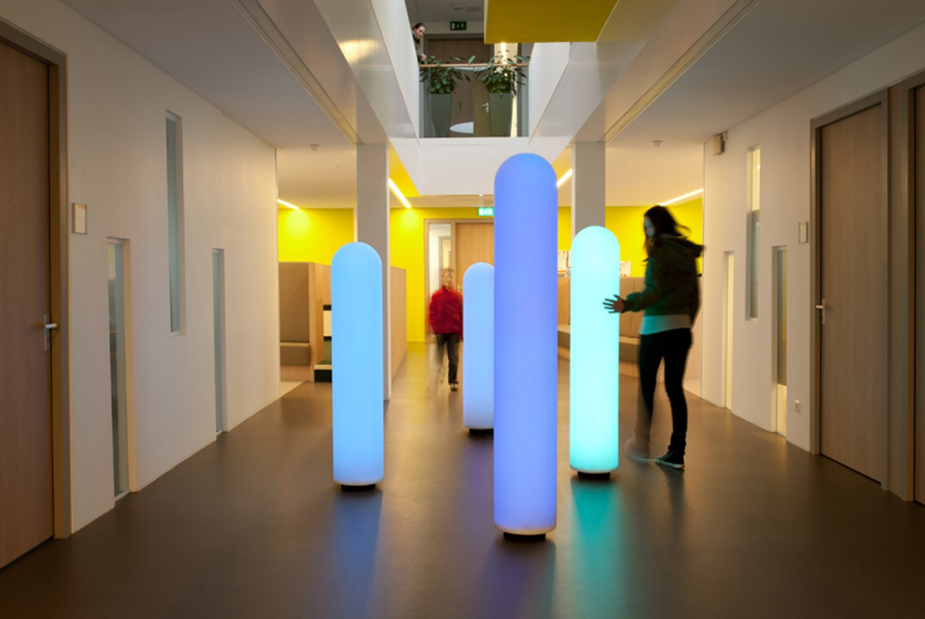 Touch pillars at Mental Health Care GGz