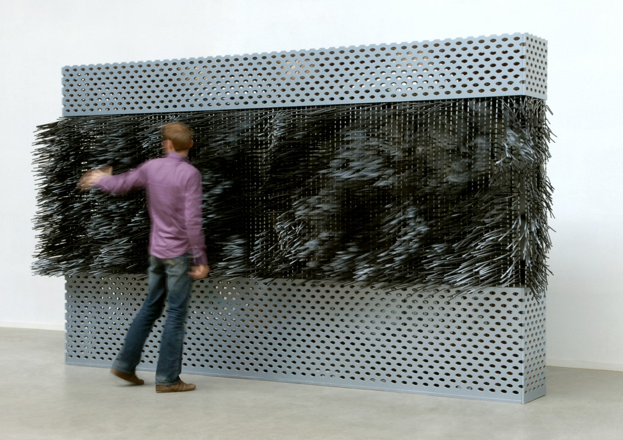 Wind 3.0 is composed of hundreds of fibres interacting with the visitor.