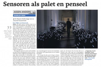 "Today: article in Assen Dagblad ""Sensors as paint"""