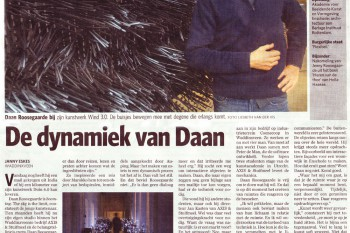 "Today: interview ""the dynamics of daan"" in newspaper AD with Daan Roosegaarde"