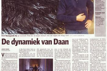 "Today: interview ""the dynamics of daan"" in newspaper AD with Daan Roosegaarde"