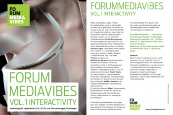 Lecture at ForumMediaVibes in Groningen NL