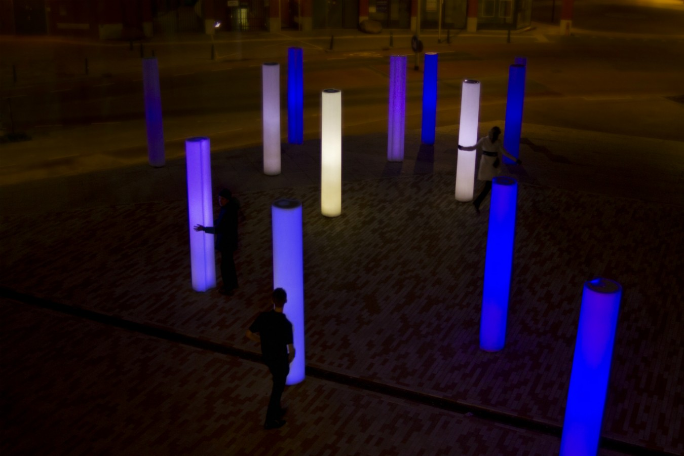SENSOR VALLEY is Europe's largest interactive sensor artwork of light pillars.