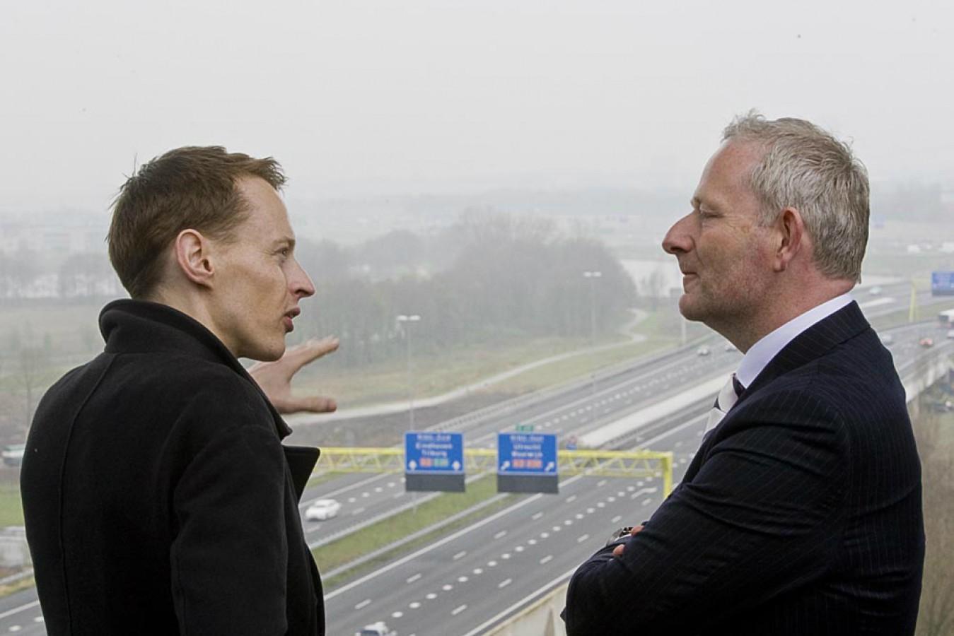 Daan Roosegaarde and director of Heijmans