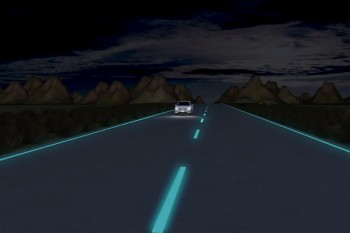 Futuristic highways in the Netherlands glow in the dark