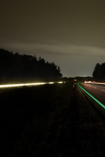 Opening first Glowing Smart Highway