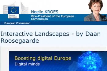 Neelie Kroes supports Daan Roosegaarde