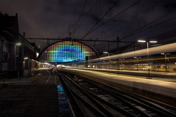 Rainbow Station in Amsterdam